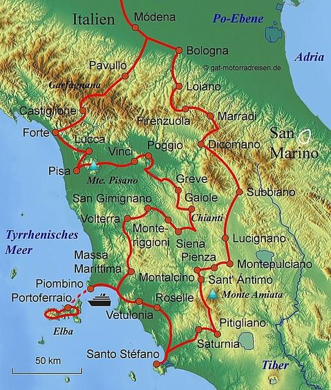 Motorradreise Toskana - Geführte Motorradtouren ...