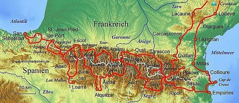 Motorradreise Pyrenäen - Geführte Motorradtouren - organisierter Motorradurlaub Veranstalter