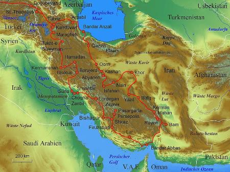 Persien Karte.Motorradreisen Mit Global Adventure Tours Gat Motorradtouren Iran