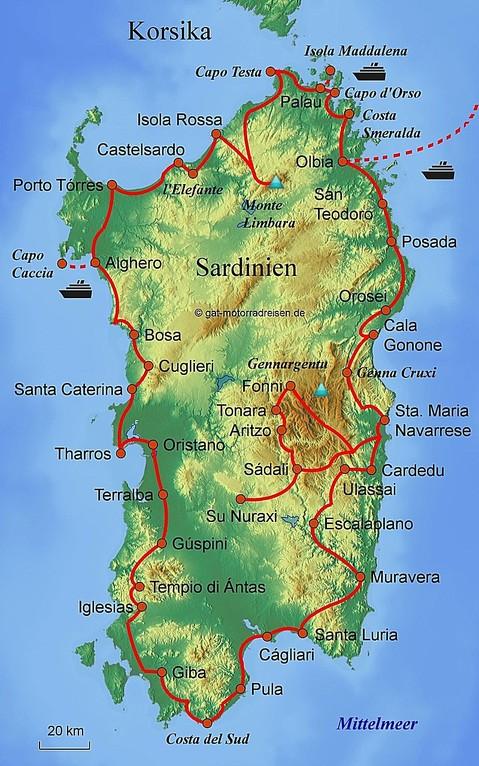 Motorradreise Sardinien - Geführte Motorradtouren ...
