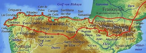Jakobsweg Spanien Karte.Jakobsweg Pyrenäen Karte Kleve Landkarte