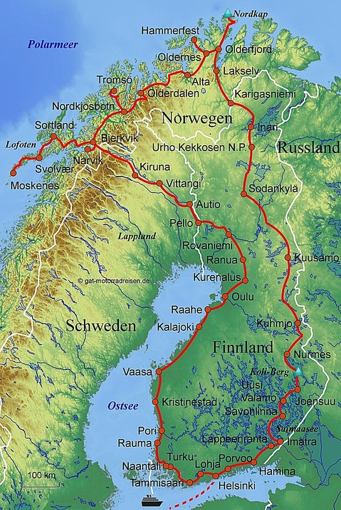 Motorradreise Finnland Gefuhrte Motorradtouren Organisierter