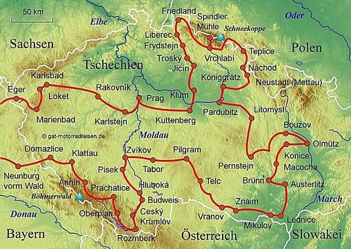 Prag Karte Tschechien.Motorradreise Tschechien Geführte Motorradtouren Organisierter