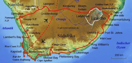 Südafrika Karte Sehenswürdigkeiten.Motorradreise Südafrika Geführte Motorradtouren Organisierter